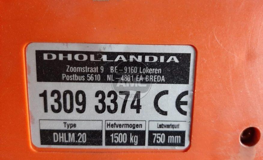 PLATAFORMA TRASEIRA DE ENCOSTO DHOLLANDIA 2014 1500 KGS